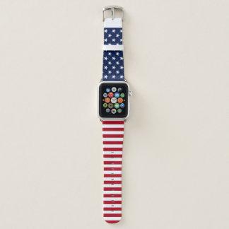 Bracelet Apple Watch Drapeau des Etats-Unis