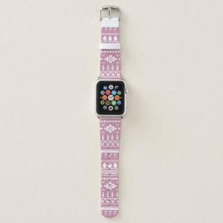 Bracelet Apple Watch Le pétale Apple du sud-ouest rose observent la
