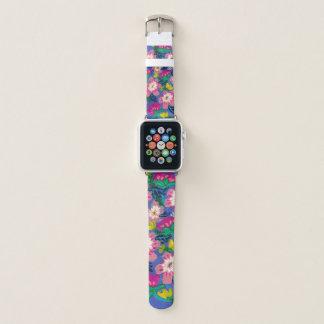 Bracelet Apple Watch Le rose fleurit bande de montre d'Apple