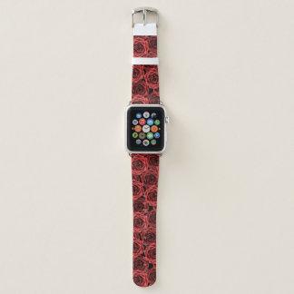 Bracelet Apple Watch Motif de rose rouge