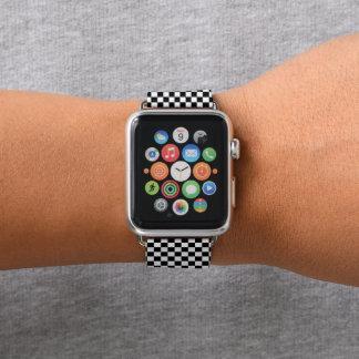 Bracelet Apple Watch Motif noir et blanc de contrôleur