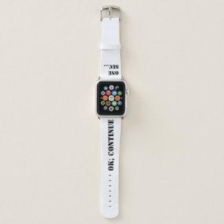 """Bracelet Apple Watch """"Oh là là !, juste un deuxième """""""