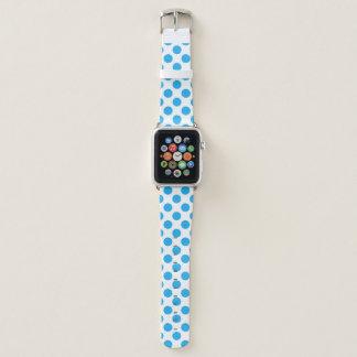 Bracelet Apple Watch Pois bleu