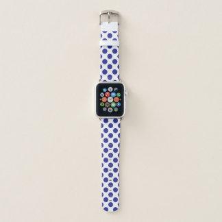 Bracelet Apple Watch Pois bleu profond