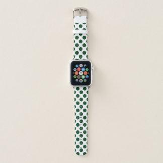 Bracelet Apple Watch Pois de Forest Green