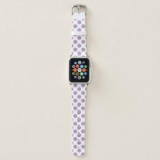 Bracelet Apple Watch Pois lilas