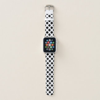 Bracelet Apple Watch Pois noir