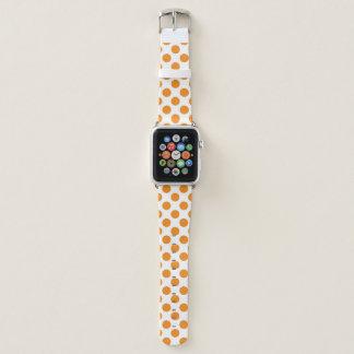Bracelet Apple Watch Pois orange