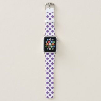 Bracelet Apple Watch Pois pourpre