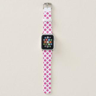 Bracelet Apple Watch Pois rose