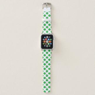 Bracelet Apple Watch Pois vert