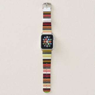 Bracelet Apple Watch Rayure élégante