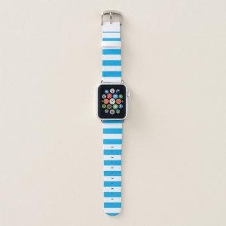 Bracelet Apple Watch Rayures horizontales bleues