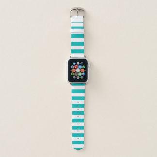 Bracelet Apple Watch Rayures horizontales d'Aqua