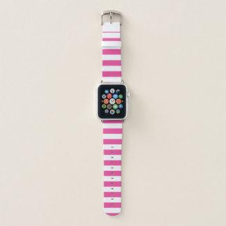 Bracelet Apple Watch Rayures horizontales roses