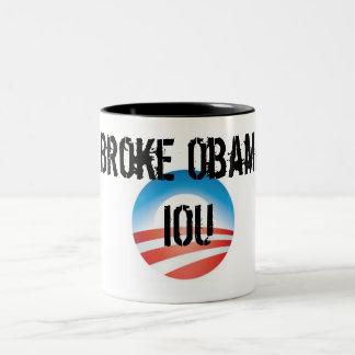 Brach Obama IOU Zweifarbige Tasse