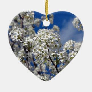Bradford-Birnen-Blüte Keramik Herz-Ornament