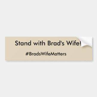 Brads Ehefrau-Angelegenheiten Autoaufkleber