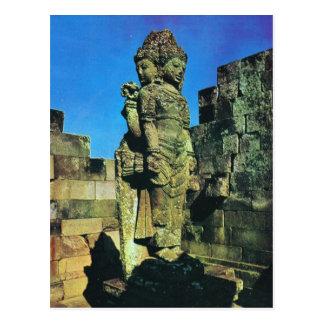 Brahma Statue, zentraler Schrein, Prambanan, Java Postkarte