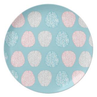 Brainy Pastellmuster Melaminteller