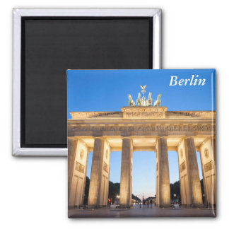 Brandenburger Felsen Berlin Quadratischer Magnet