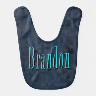 Brandon, Namen-blaue Logo-Babys blau Babylätzchen
