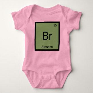 Brandon Namenschemie-Element-Periodensystem Baby Strampler