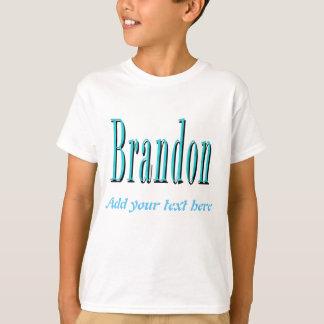 Brandon, nennen Logo, personifizieren mit Ihrem T-Shirt