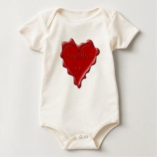 Brandon. Rotes Herzwachs-Siegel mit NamensBrandon Baby Strampler