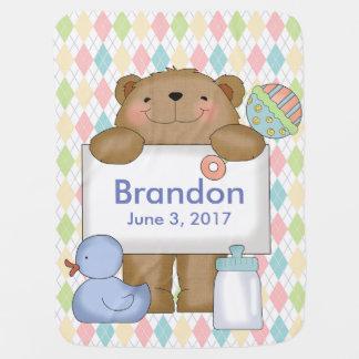 Brandons gute Nachrichten tragen personalisierte Babydecke