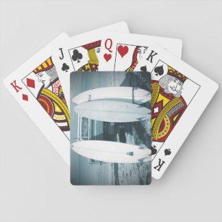 Brandung 3 Surfbretter beben das blaue surfende Spielkarten
