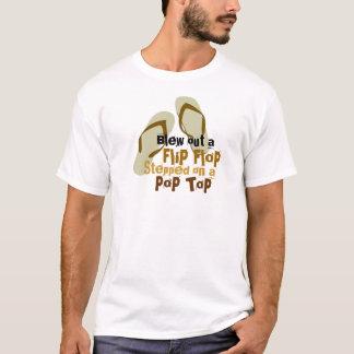 Brannte heraus einen umgedrehtereinfall durch T-Shirt