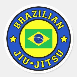 Brasilianer Jiu Jitsu Runder Aufkleber