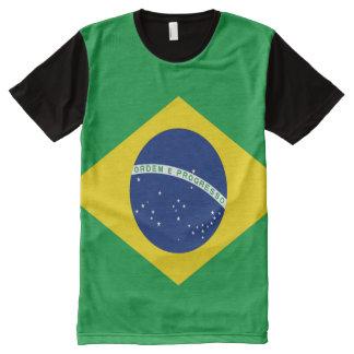 Brasilianische Flagge voll T-Shirt Mit Bedruckbarer Vorderseite