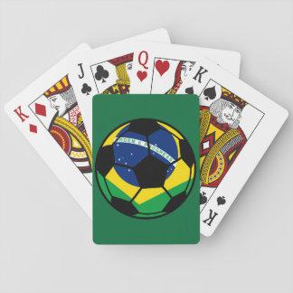 Brasilianischer Flaggen-Fußball Spielkarten