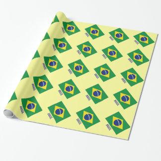 Brasilianisches Land des Flaggen-Packpapiers | Geschenkpapierrolle