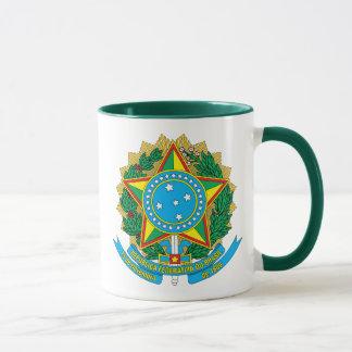 Brasilien-Emblem Tasse