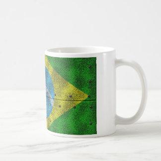 Brasilien-Flagge auf Stahlblech Kaffeetasse