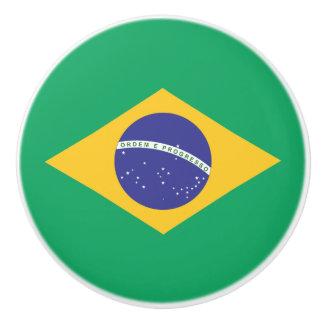 Brasilien-Flagge Keramikknauf