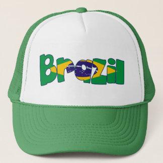 Brasilien-Flagge Truckerkappe