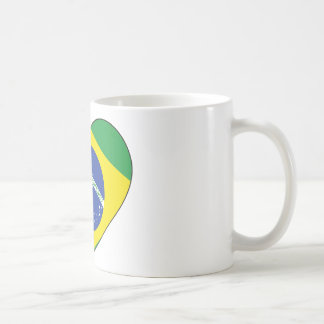 Brasilien-Flaggen-Herz Kaffeetasse