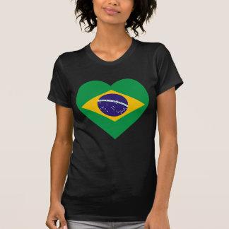 Brasilien-Flaggen-Herz T-Shirt