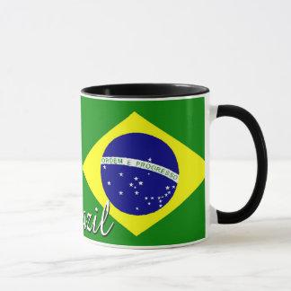 Brasilien-Flaggen-Kaffee-Tasse Tasse