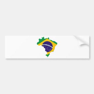 Brasilien-Flaggen-Karte Autoaufkleber