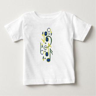 Brasilien-Flaggen-musikalische Anmerkungs-Baby-T - Shirt