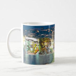 Brasilien, Foto-Buchstaben u. Cityscape Kaffeetasse
