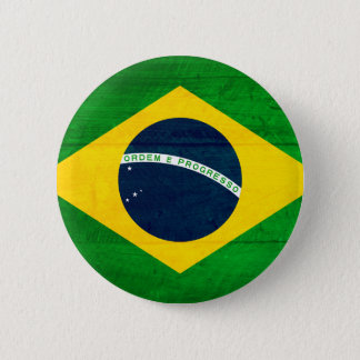 Brasilien-Holz-Flagge Runder Button 5,1 Cm