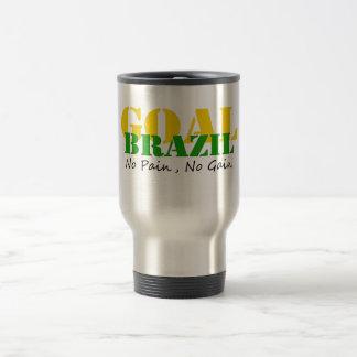 Brasilien - keine Schmerz kein Gewinn Reisebecher