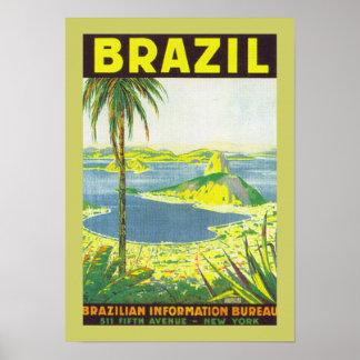 Brasilien (Leinwand) Poster