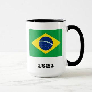 Brasilien-Mantel bewaffnet Tasse